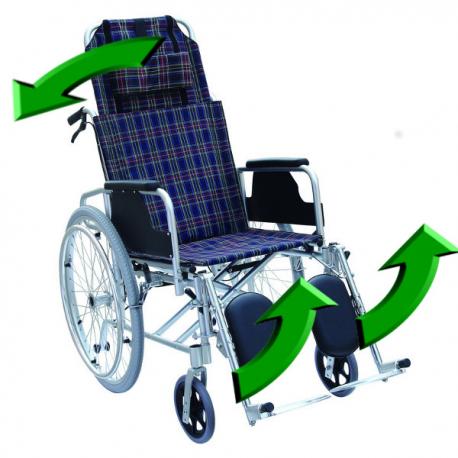 Scaun cu rotile cu spatar reglabil
