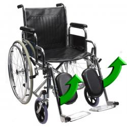 Scaun cu rotile cu suporti picioare rabatabili