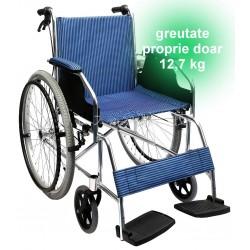Scaun cu rotile din aluminiu
