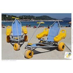 Scaun cu rotile pentru plaja