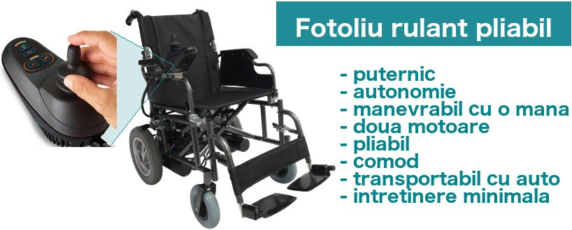scaun cu rotile electric, pliabil